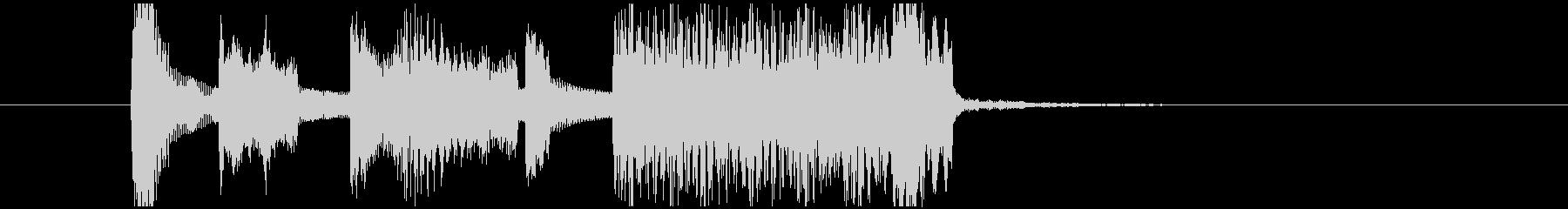 オルガンと木琴のポップなジングルの未再生の波形