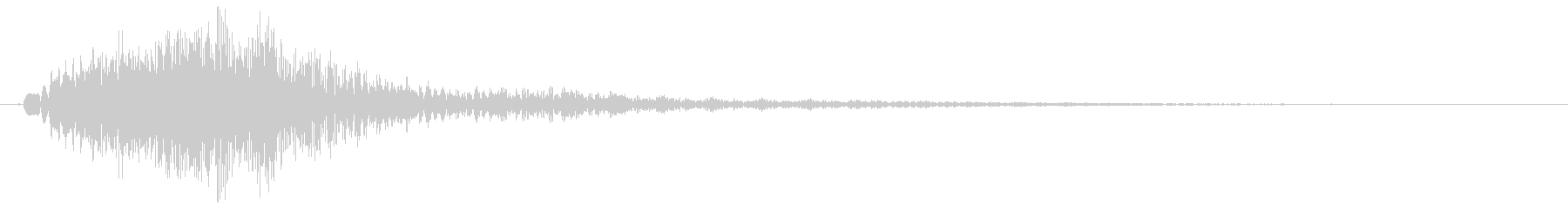 キュイン(高音で電子的な決定音)の未再生の波形