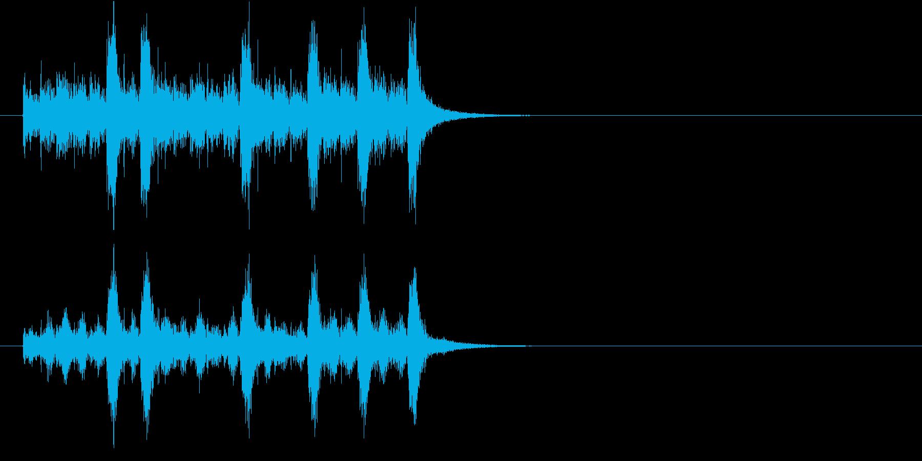 ジングル(SFX風)の再生済みの波形