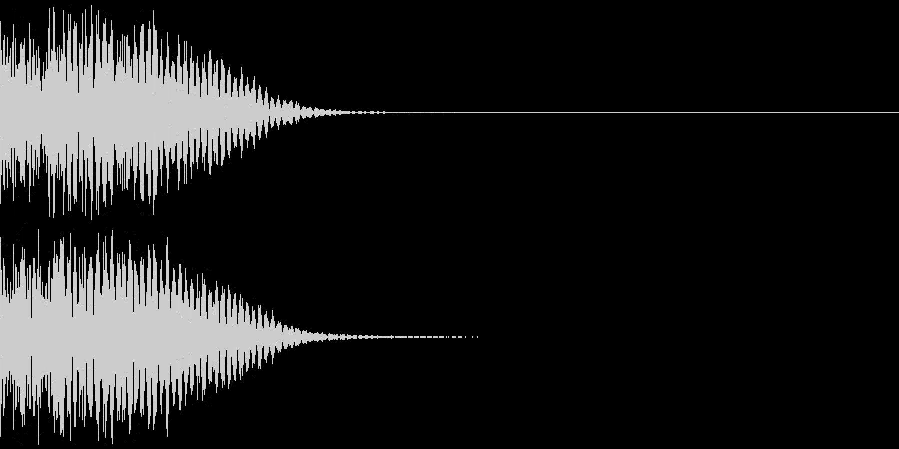 ビシの未再生の波形