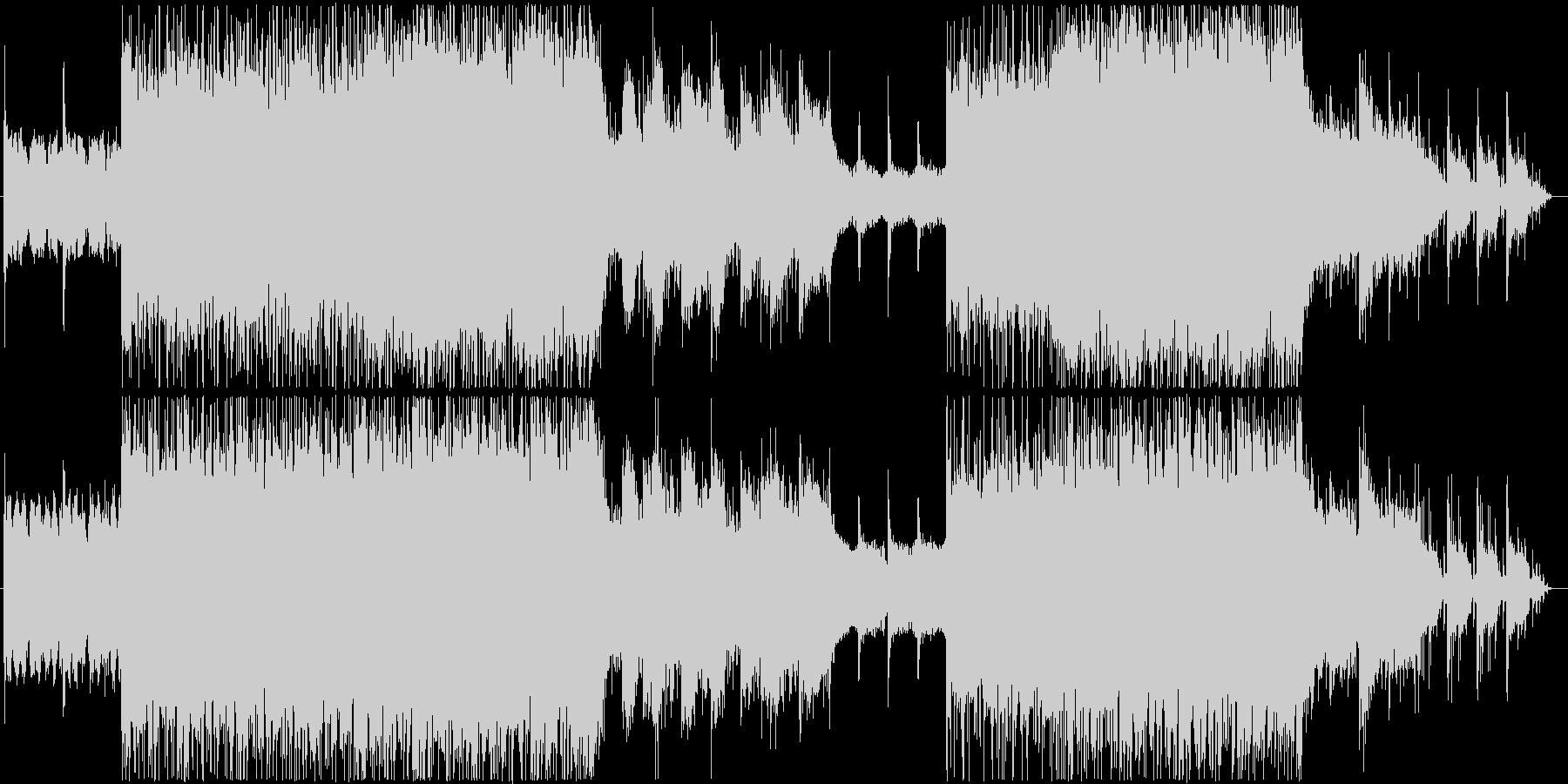 ビックビートを意識したインダストリアル系の未再生の波形