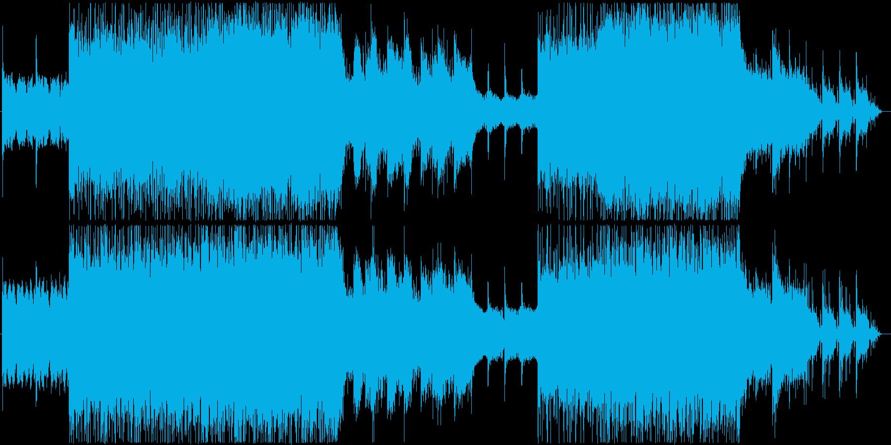 ビックビートを意識したインダストリアル系の再生済みの波形