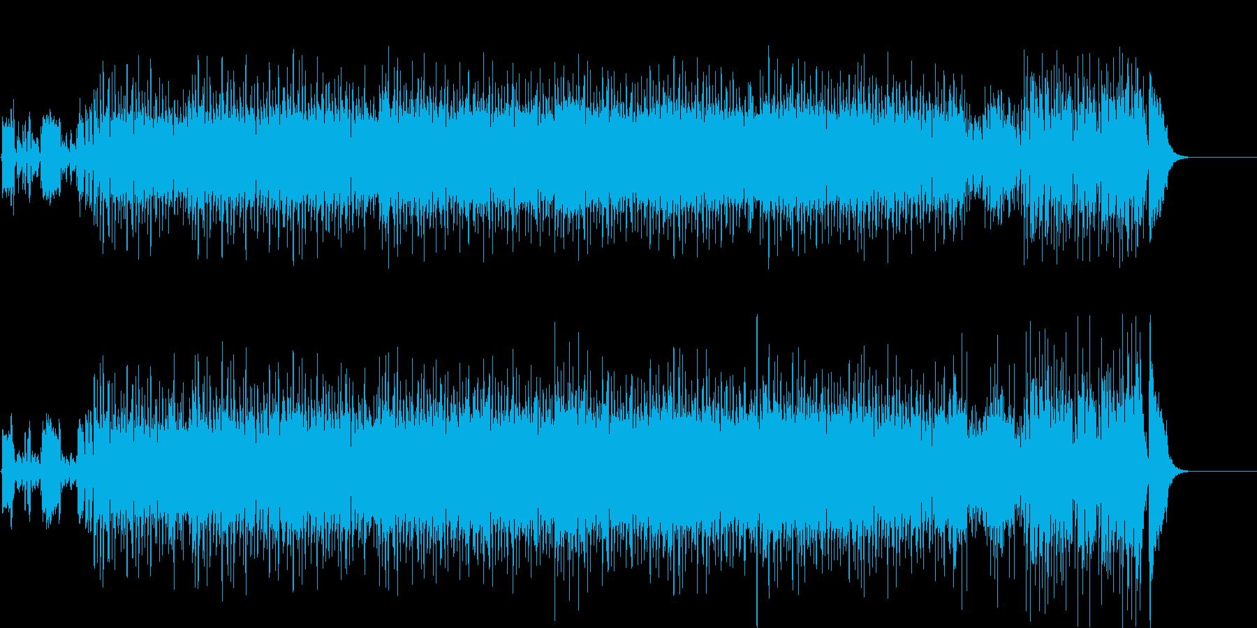アンダーグラウンドなダンス・ビートポップの再生済みの波形