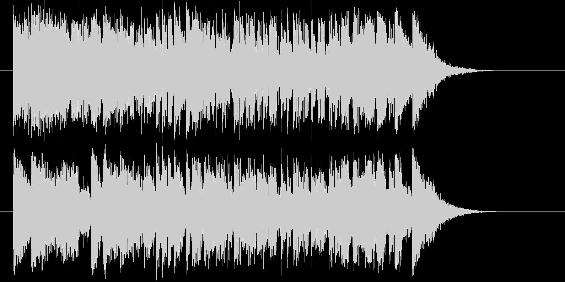 疾走感と勢いのあるシンセポップジングルの未再生の波形