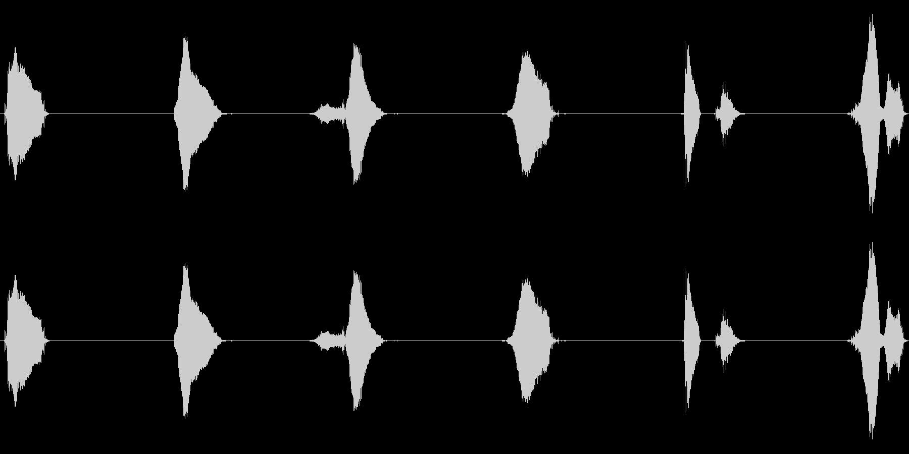 【子供カウント】5、4、3、2、1、0!の未再生の波形