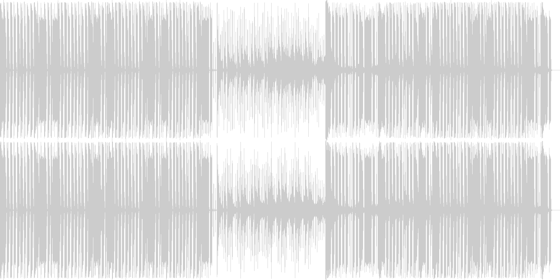 コミカルで楽しげなBGMの未再生の波形
