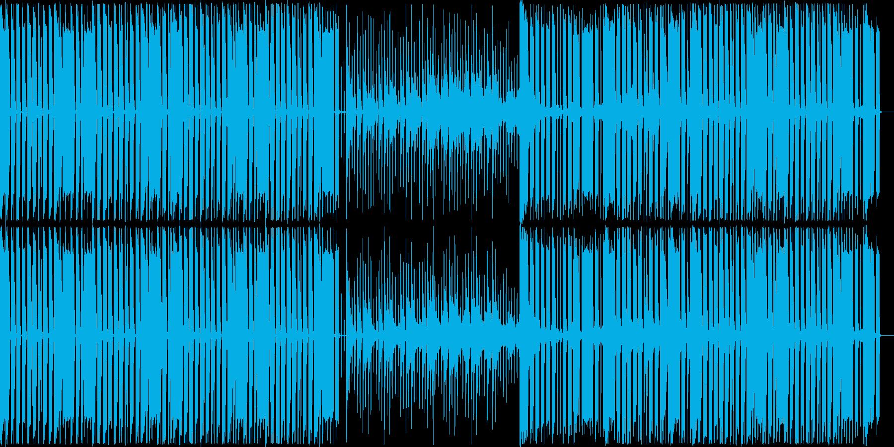 コミカルで楽しげなBGMの再生済みの波形