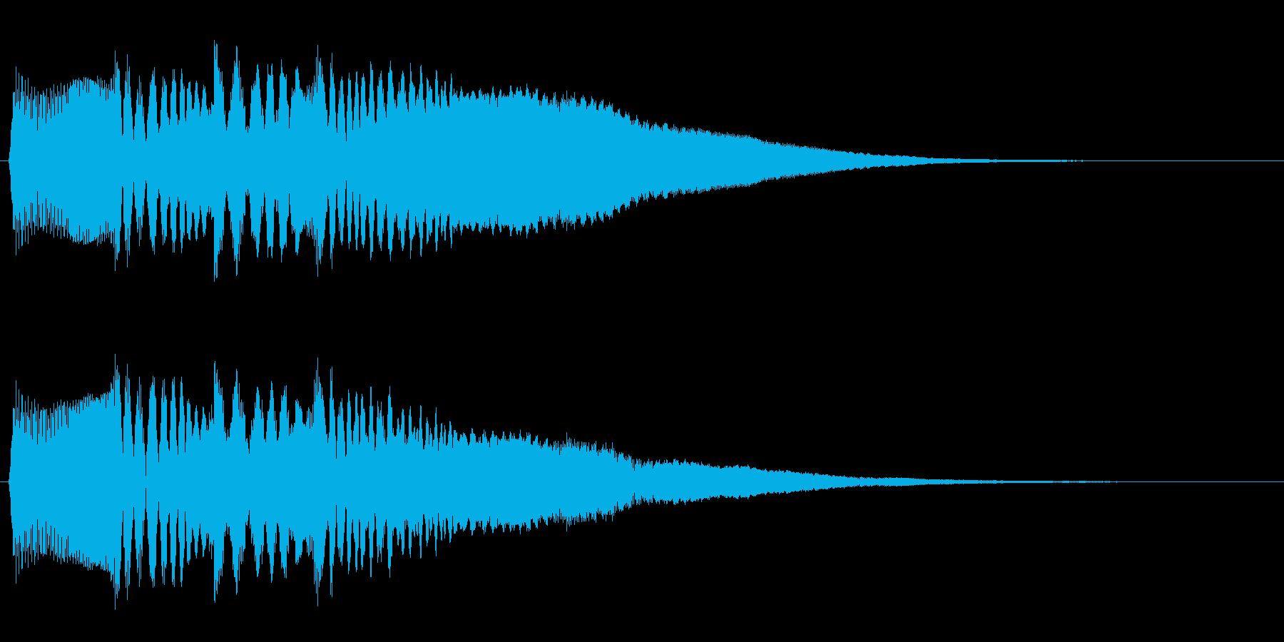 プワァワワァン(コミカル)の再生済みの波形
