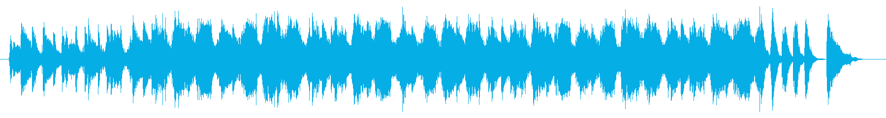 クールな商品紹介向けアコギBGMの再生済みの波形