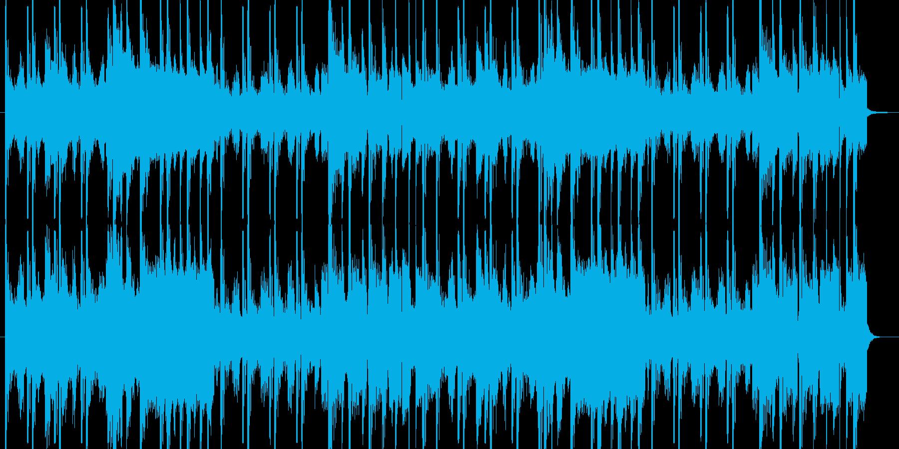 ヒップホップ風のファンキーなジングルの再生済みの波形