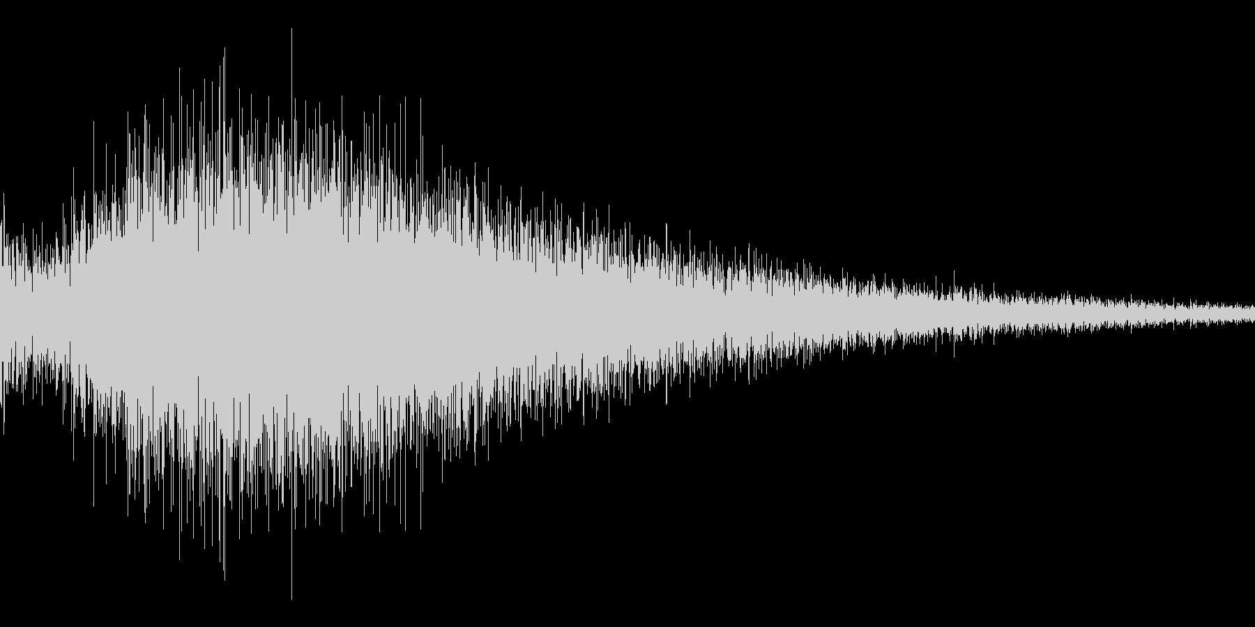 ゲーム用:ドラの音「ゴワ~ン」の未再生の波形