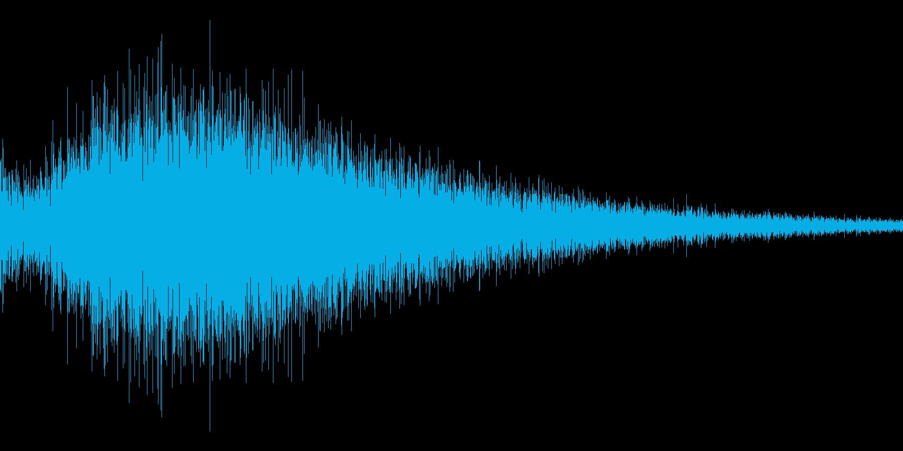 ゲーム用:ドラの音「ゴワ~ン」の再生済みの波形