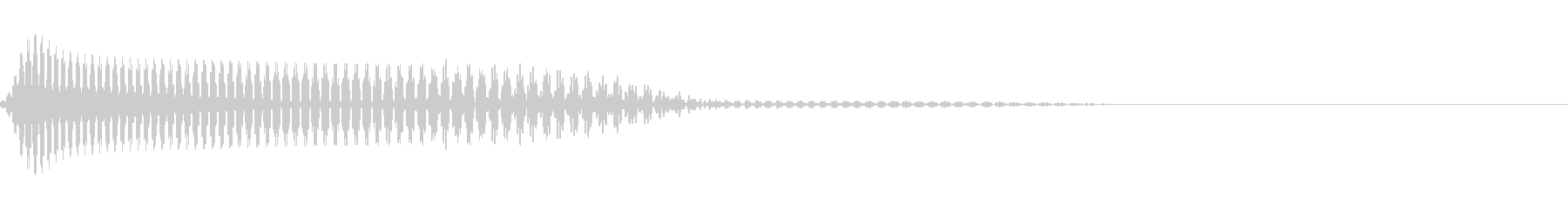 落下やキャンセルに使えるシンプルな音ですの未再生の波形