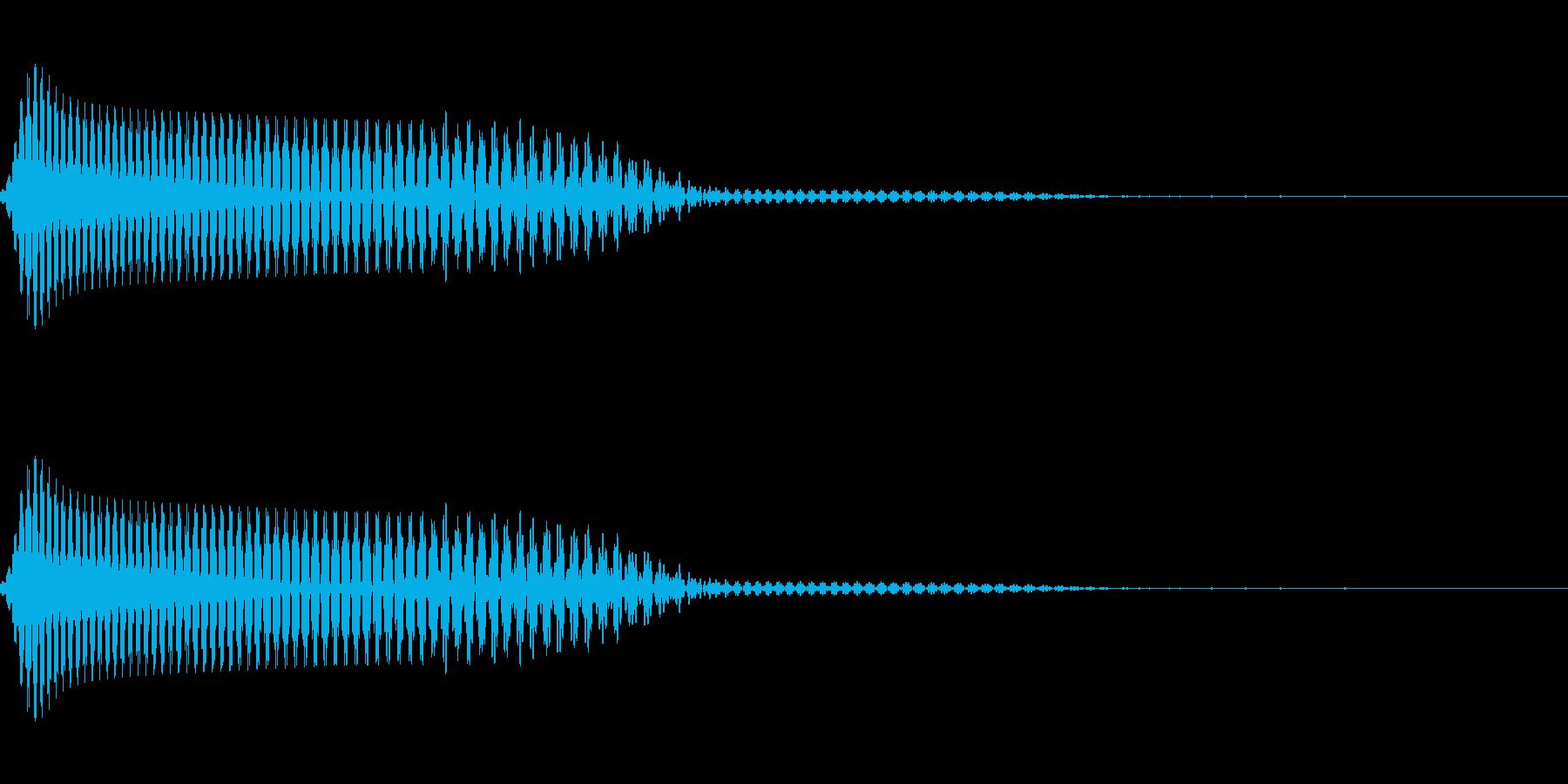 落下やキャンセルに使えるシンプルな音ですの再生済みの波形