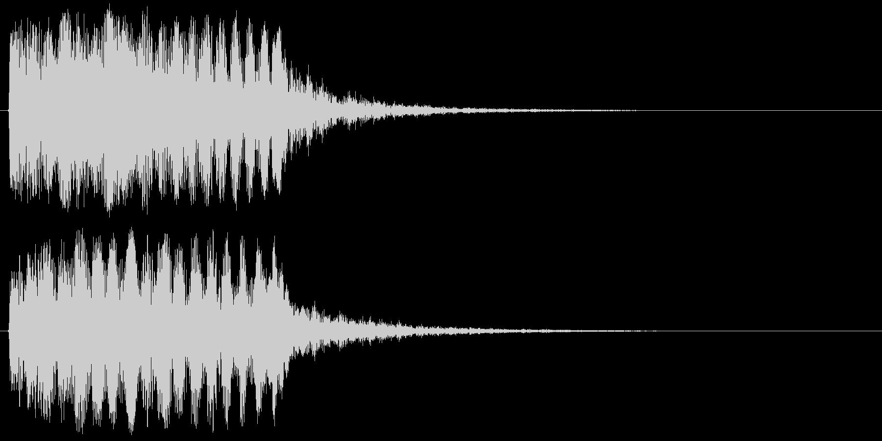 上昇系の効果音です。『ドタラララララン』の未再生の波形