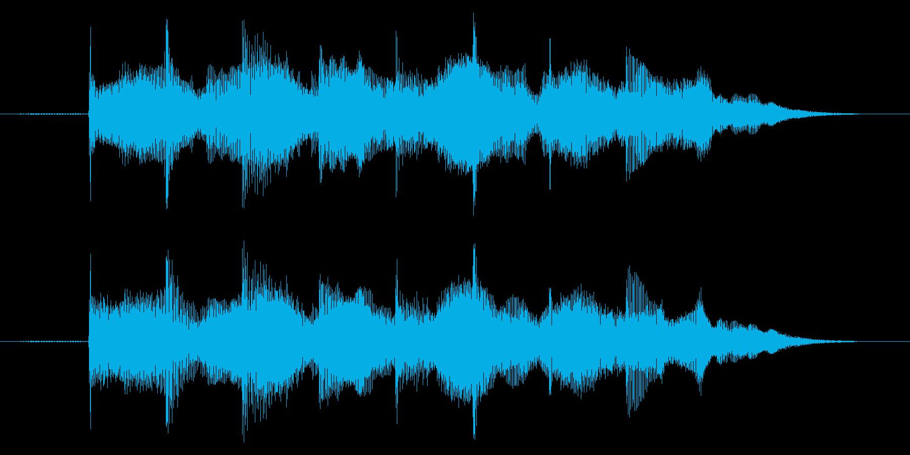 ゲームオーバー効果音 高めの音 失敗の再生済みの波形