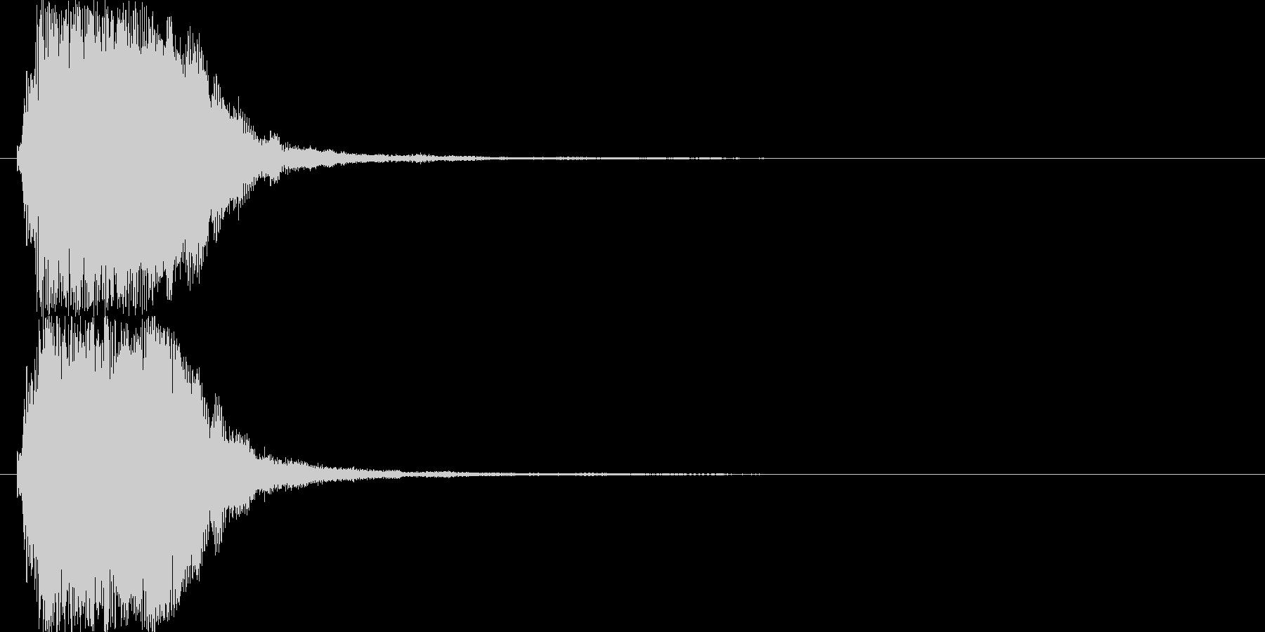 上昇系の効果音です。『ザララララン』の未再生の波形