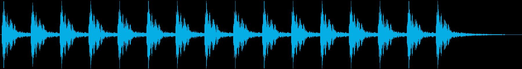 心臓の鼓動(ドクンドクン)の再生済みの波形
