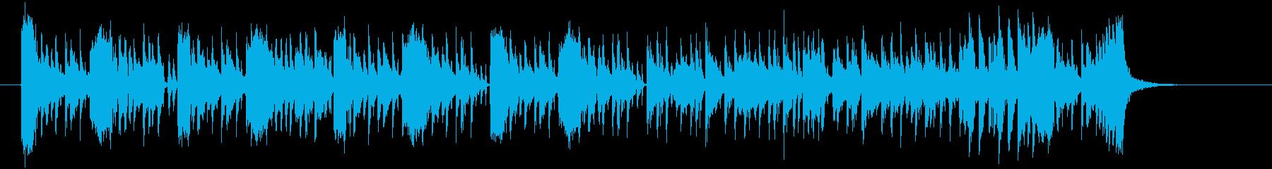 明るくキャッチーなシンセテクノ短めの再生済みの波形