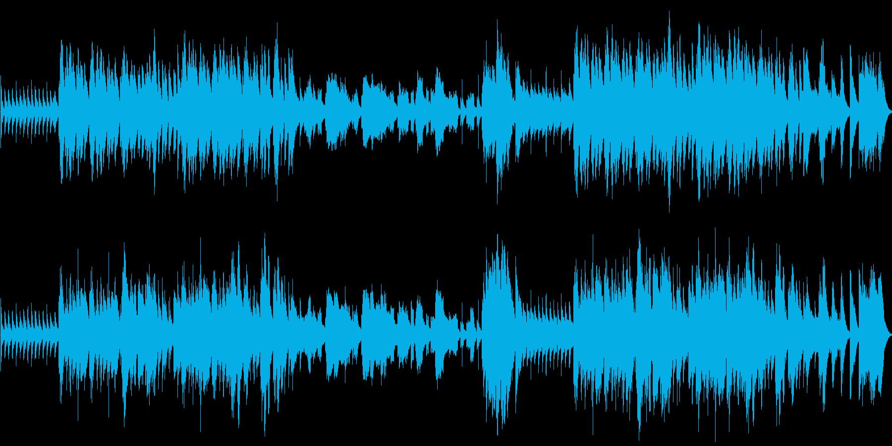 明るく楽しい映像向けのオープニング曲にの再生済みの波形