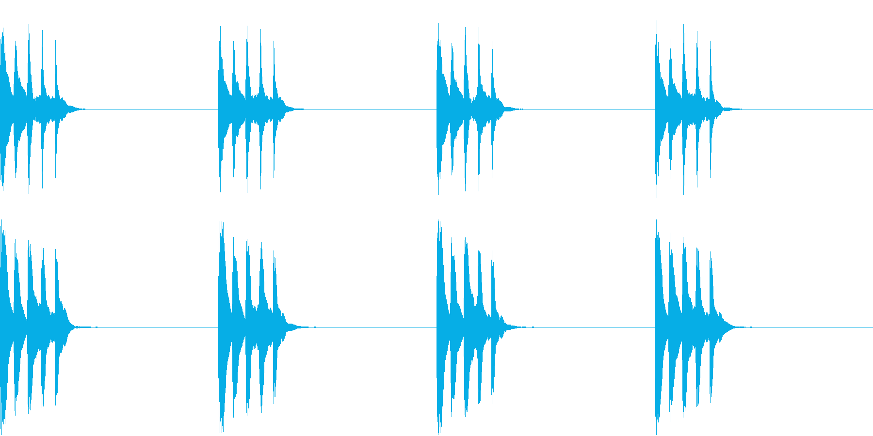 シンプル ベル 着信音 チャイム C19の再生済みの波形