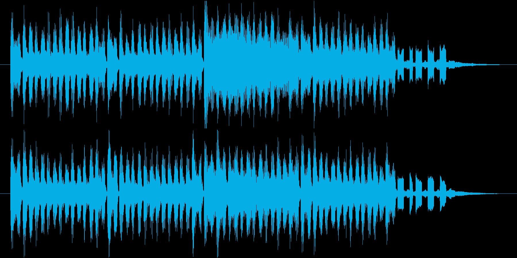かわいい、ポップな感じのジングルの再生済みの波形