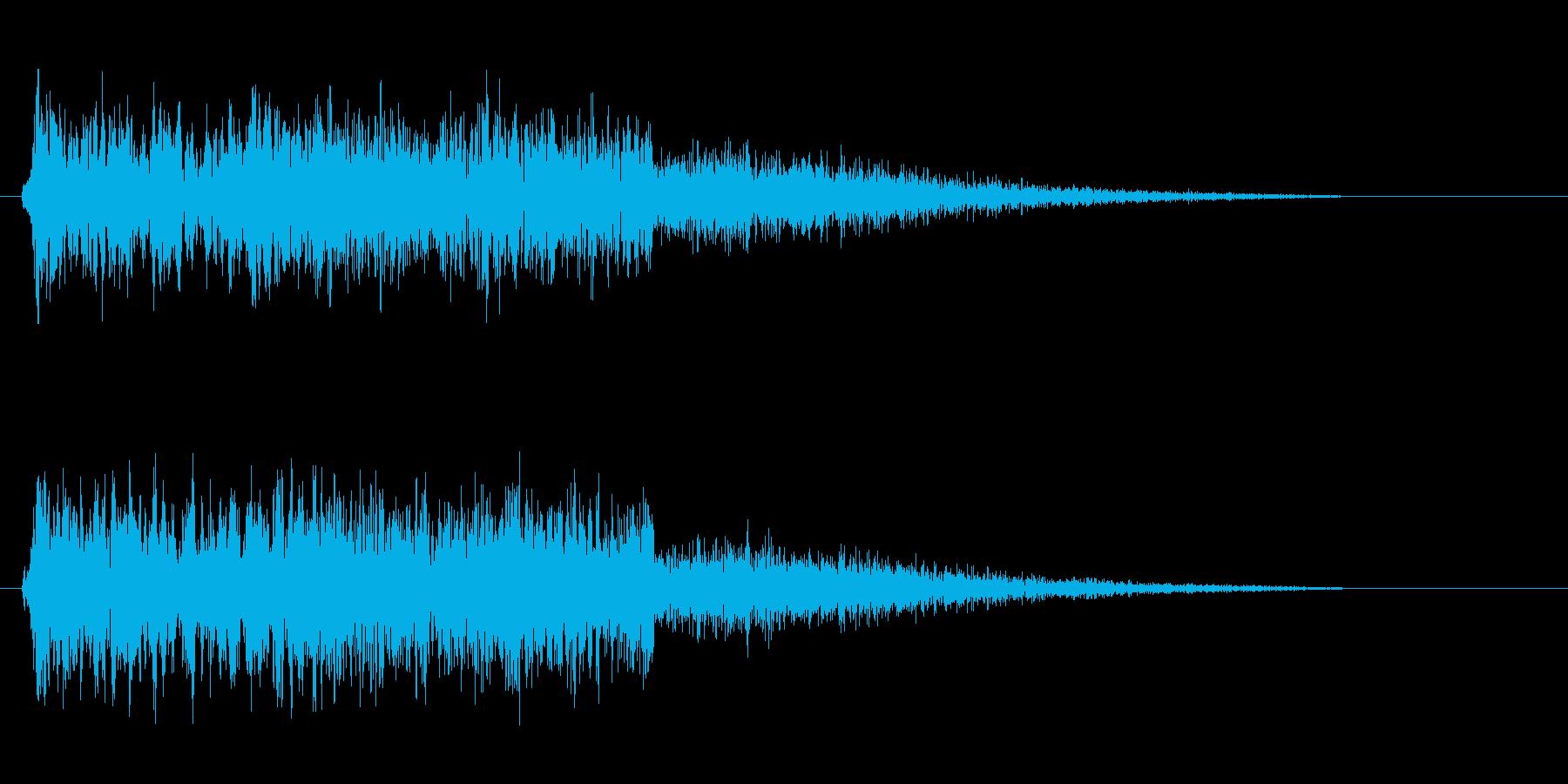 シュシュシュー(電子風切り音)の再生済みの波形