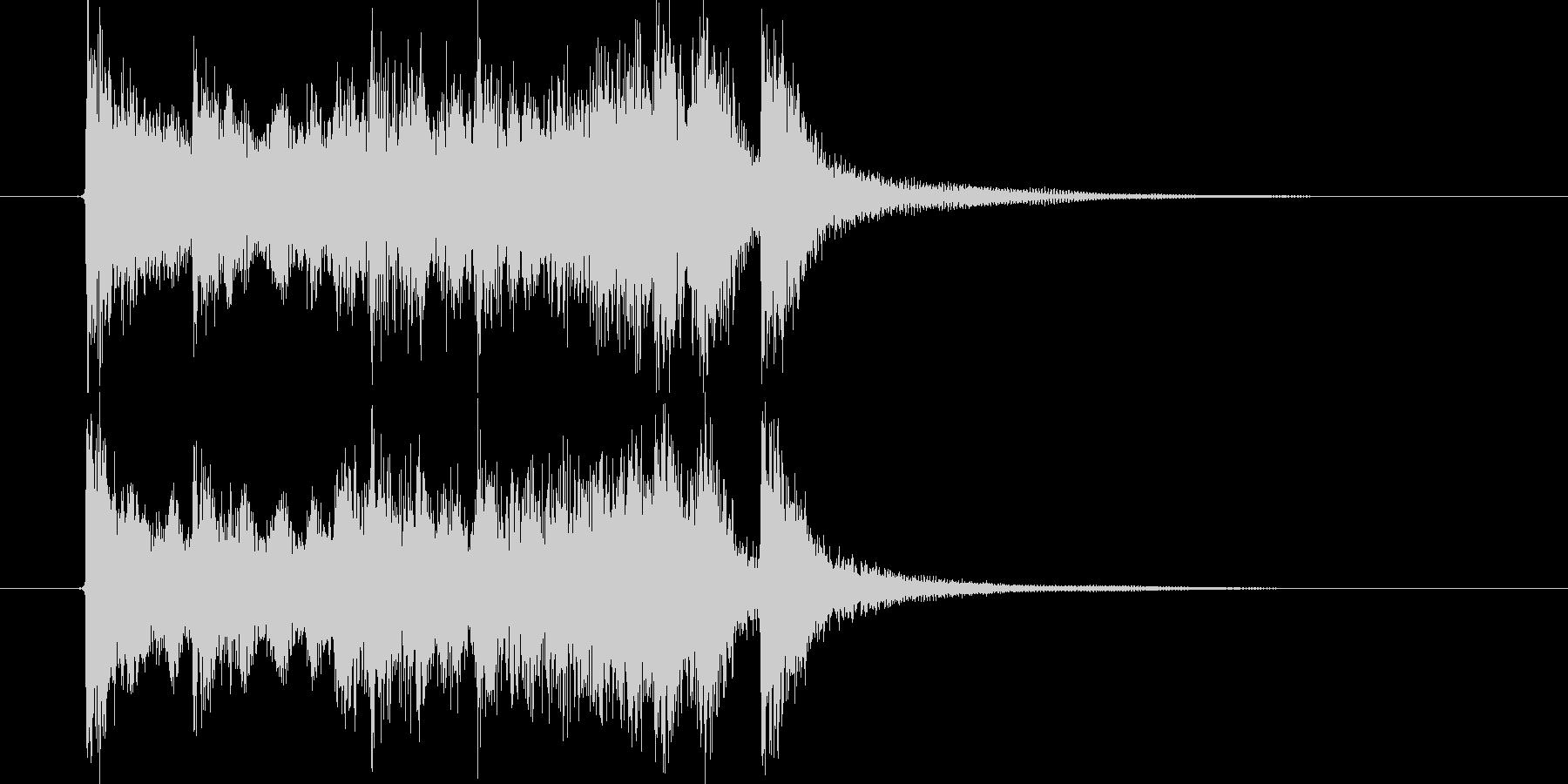 始まりを告げるアップテンポな音楽の未再生の波形