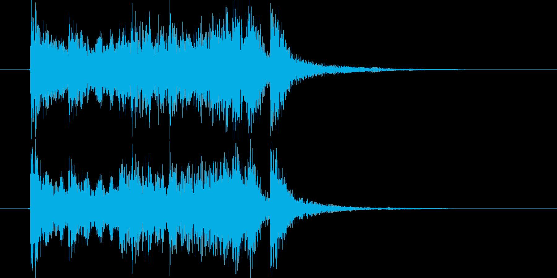 始まりを告げるアップテンポな音楽の再生済みの波形