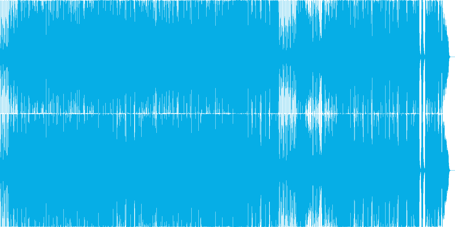 ブラスセクションのあるオールドロックの再生済みの波形
