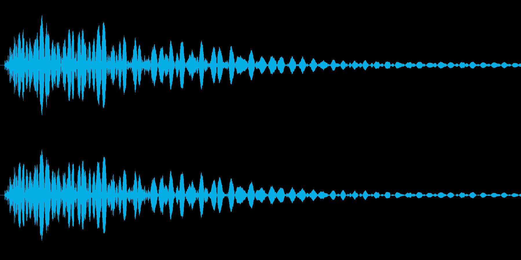 [効果音]壁ドン、打撃の再生済みの波形