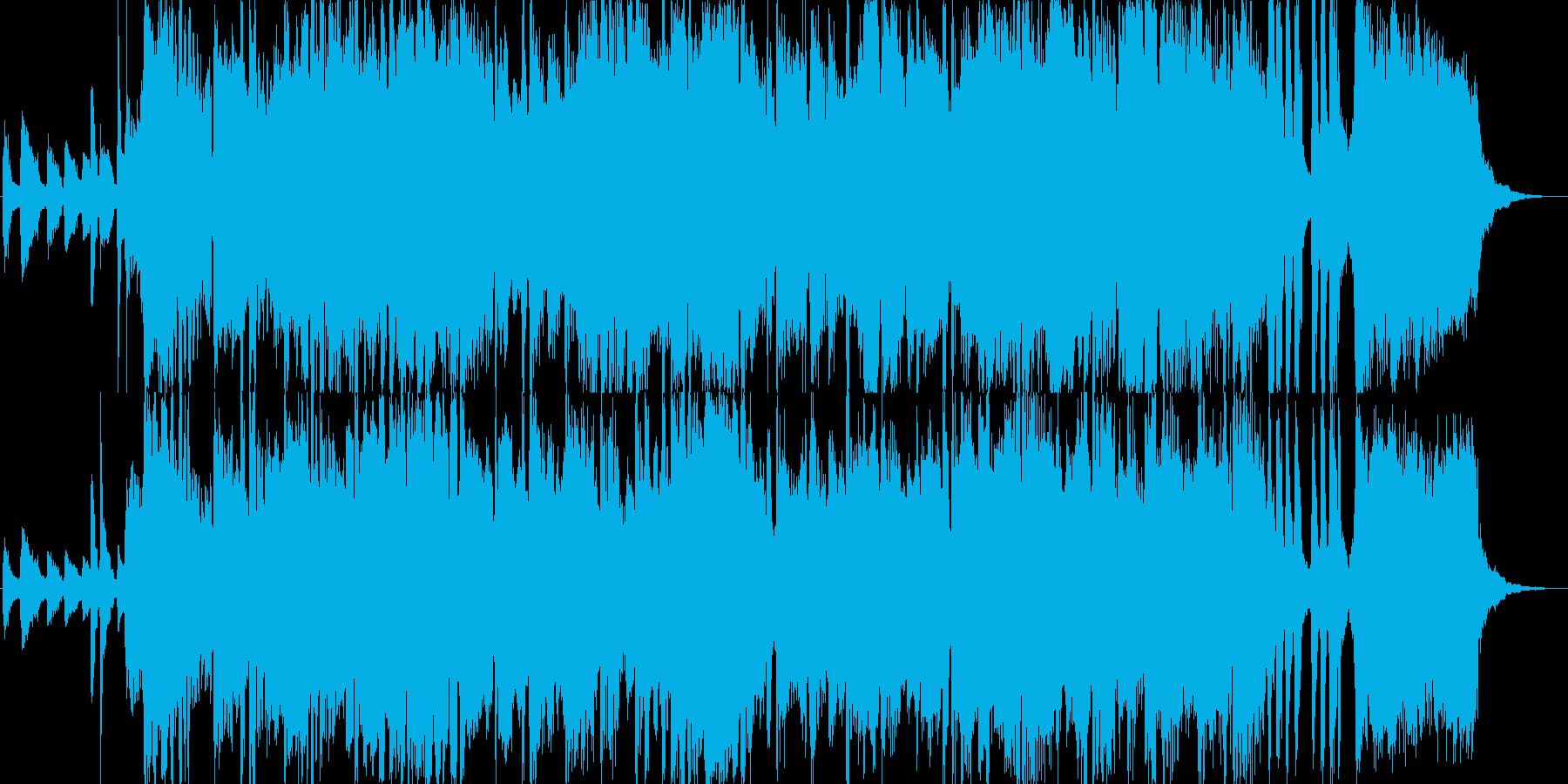 ボサノバ風の爽やかなジングルの再生済みの波形