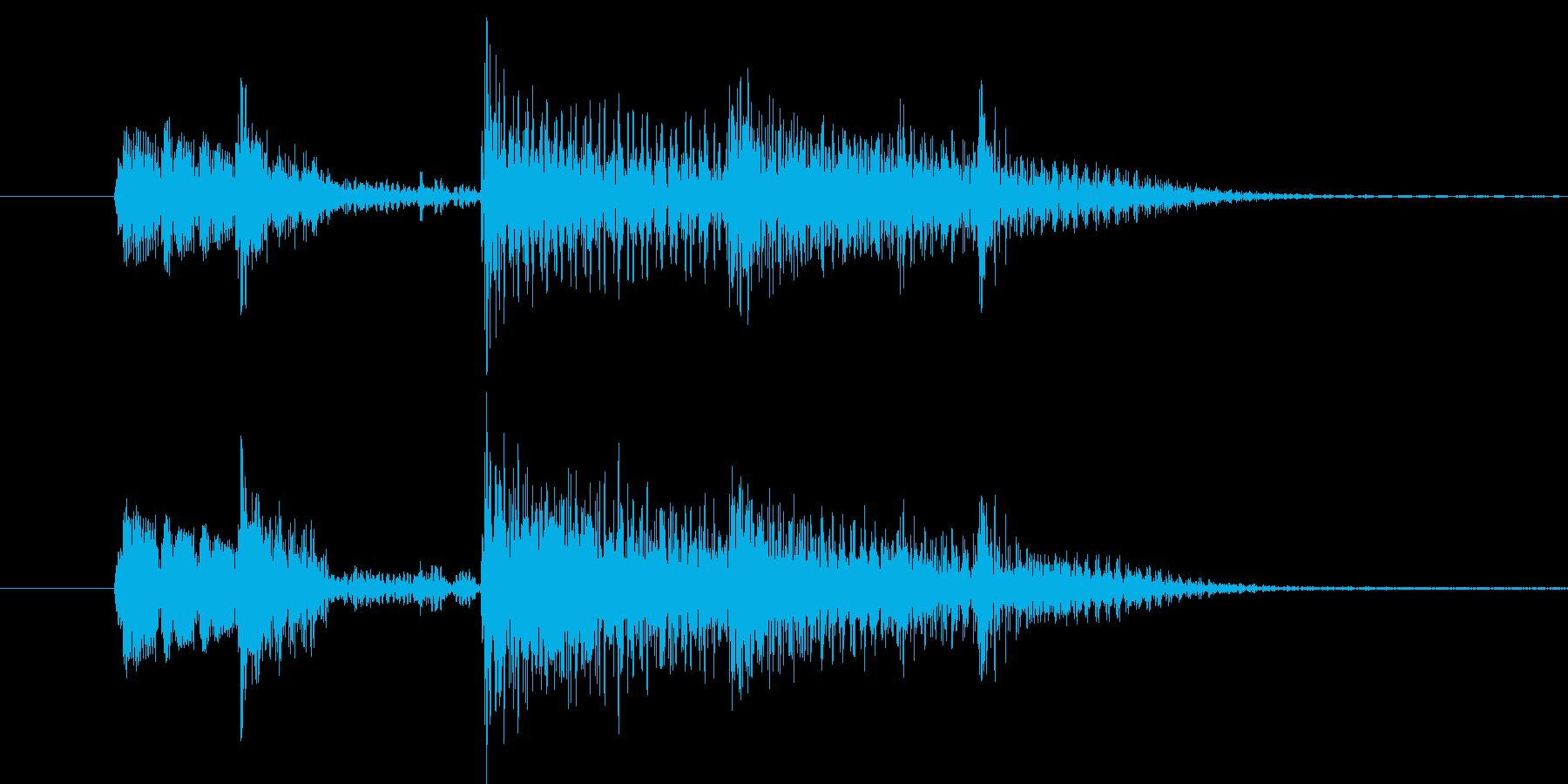 典型的なジャズ(5秒以内)の再生済みの波形
