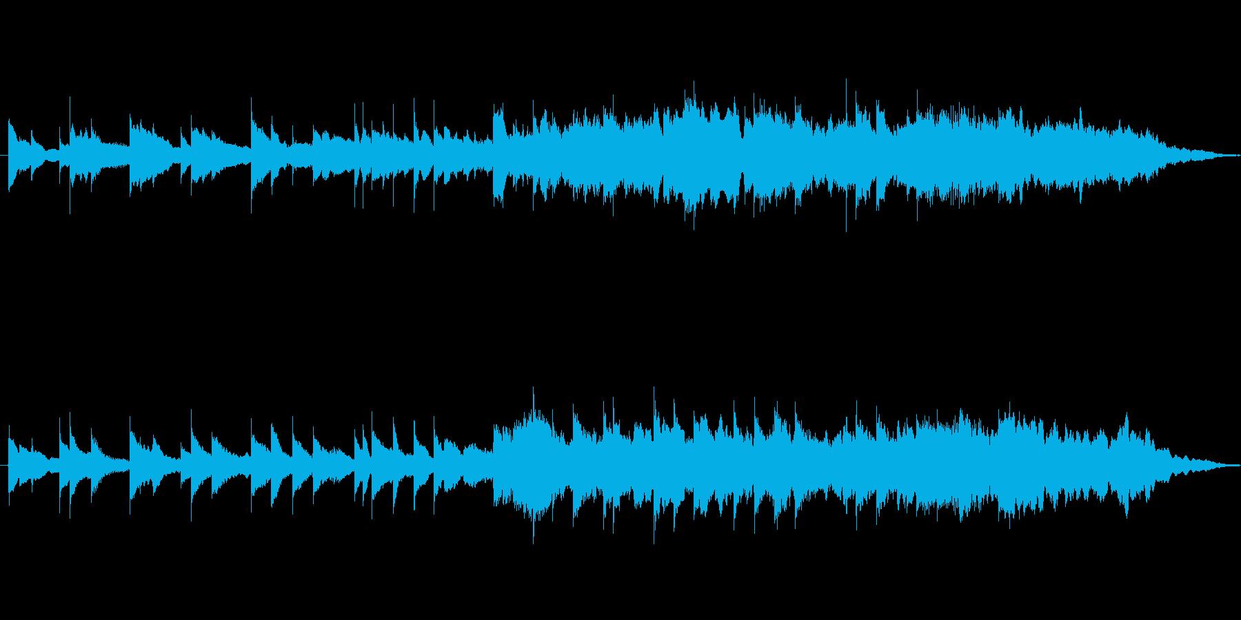 ピアノの旋律が綺麗なバラードの再生済みの波形