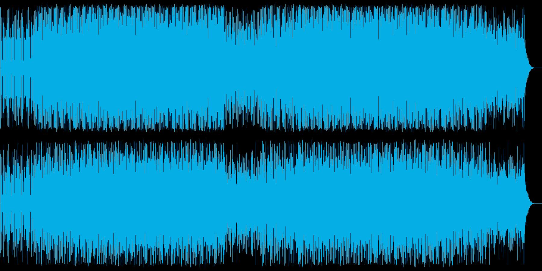 アップテンポで緩やかなシンセポップスの再生済みの波形