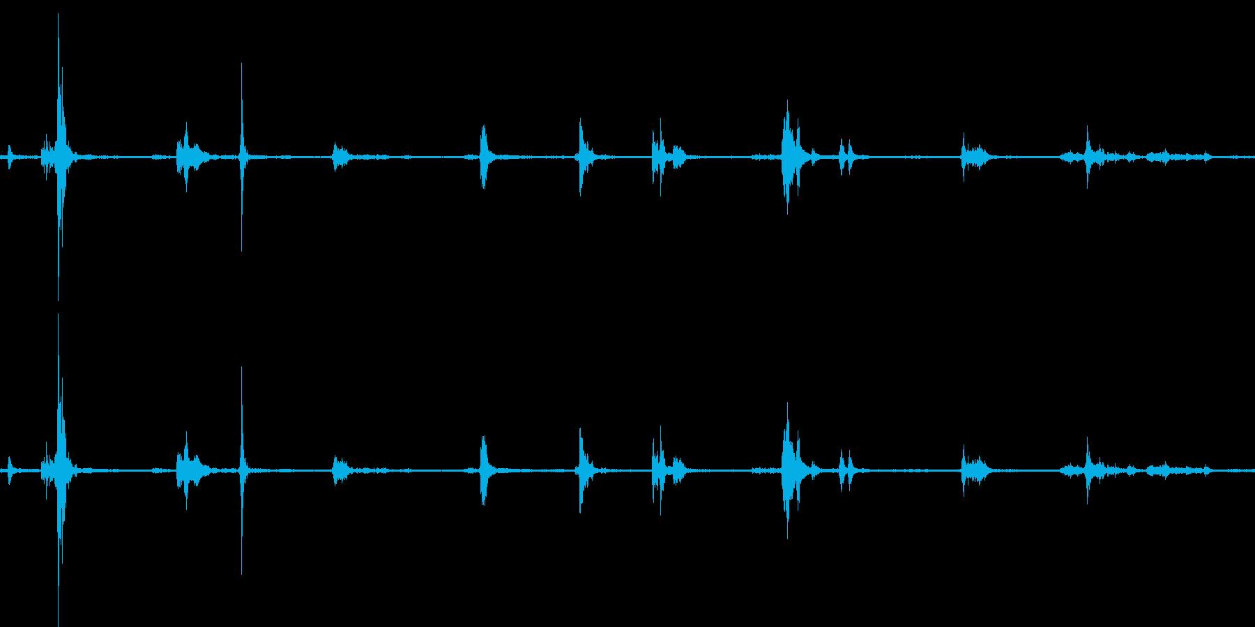 【生音】雷 - 雨が降る前の雷の音 「…の再生済みの波形