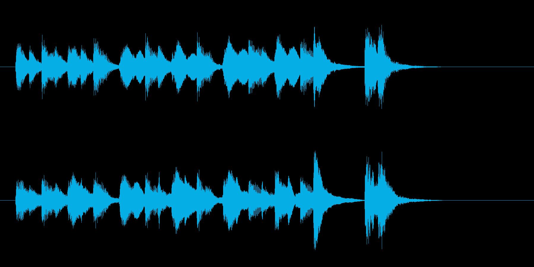 ほのぼのとした可愛いジングルの再生済みの波形