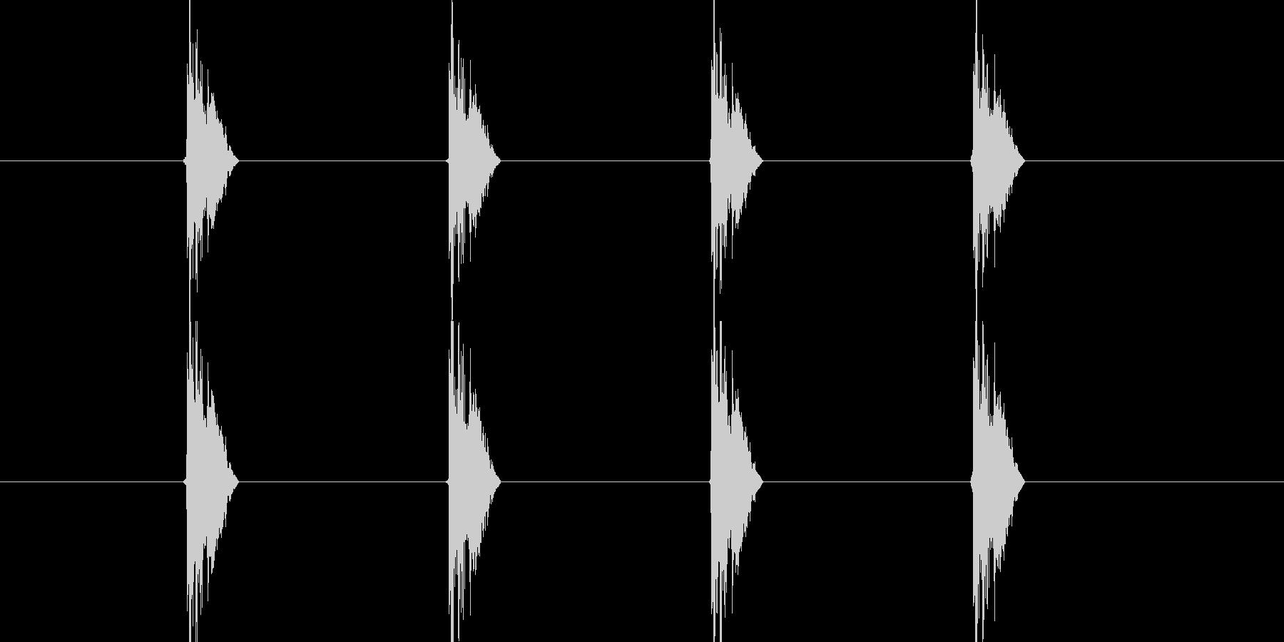 チッチッチッチッ(タンバリンの音)の未再生の波形