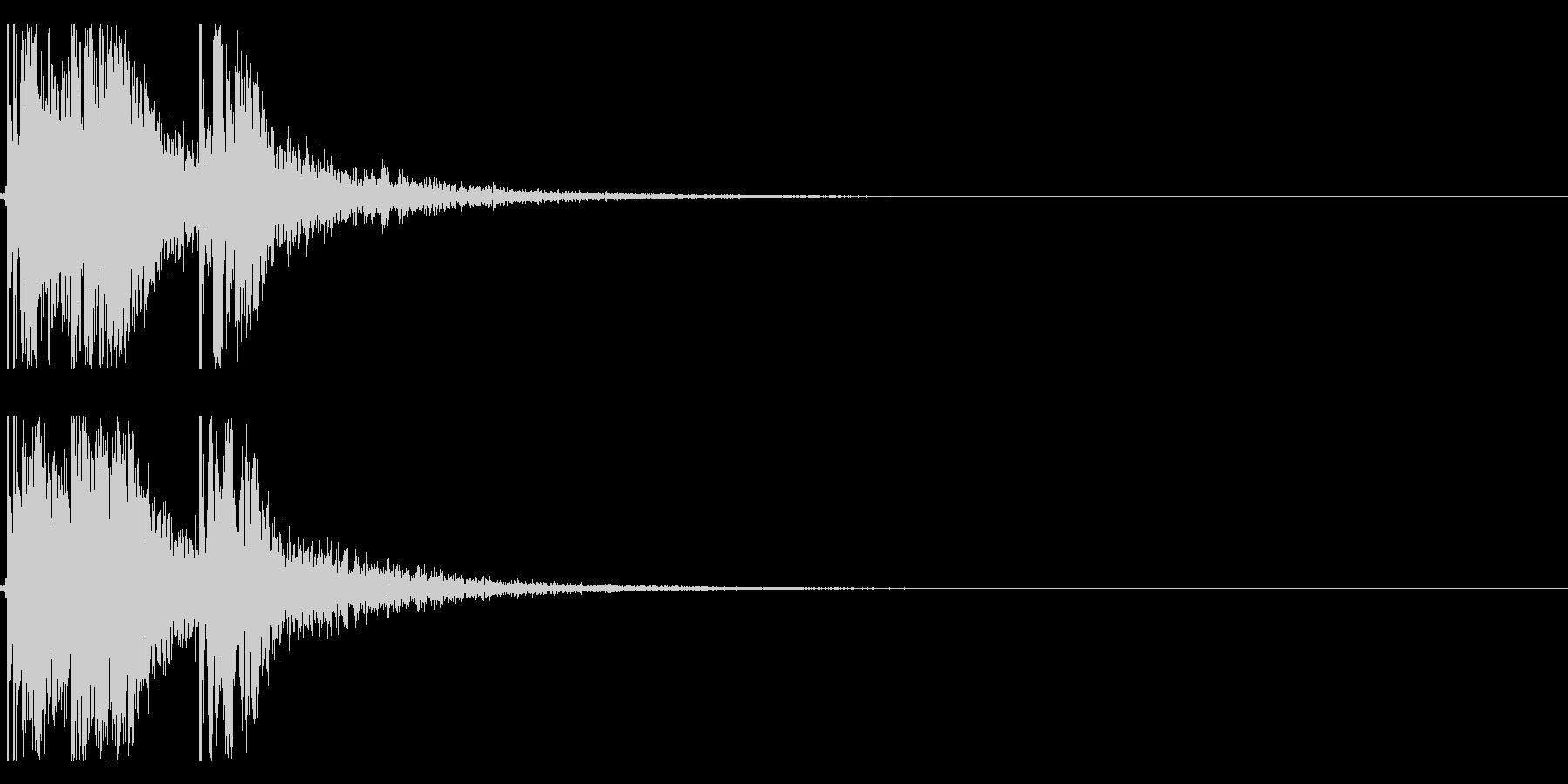 エアホッケーの効果音 01の未再生の波形
