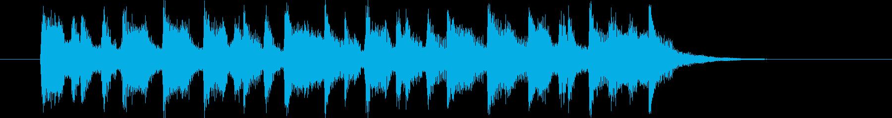 11秒の爽やかなミドルポップジングルの再生済みの波形