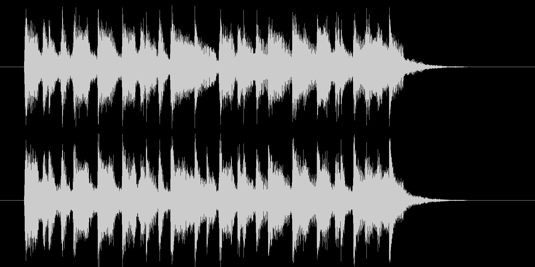 11秒の爽やかなミドルポップジングルの未再生の波形