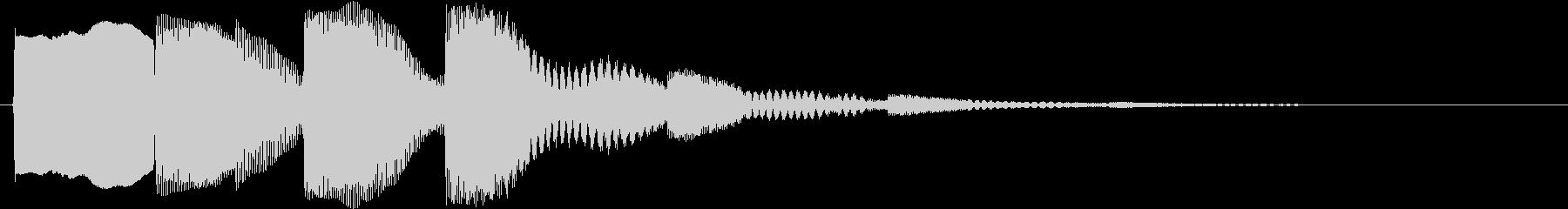 ワンポイント音の未再生の波形