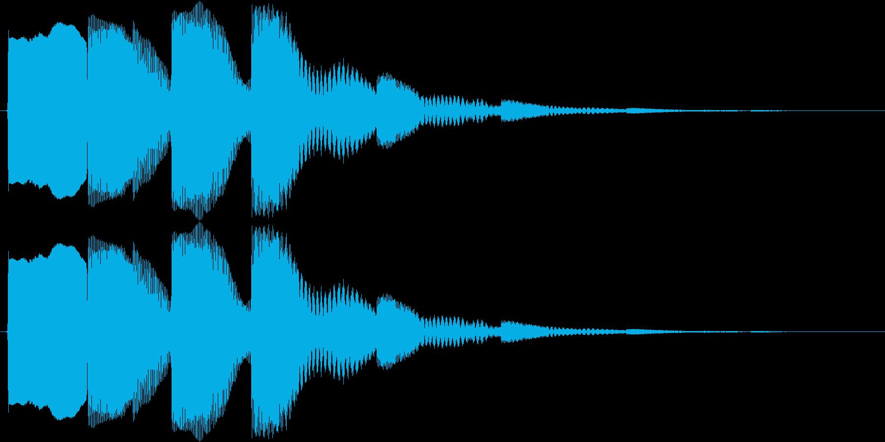 ワンポイント音の再生済みの波形