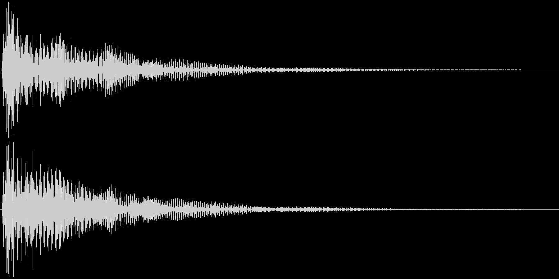 選択音、決定音など 宇宙風B ブオーンの未再生の波形