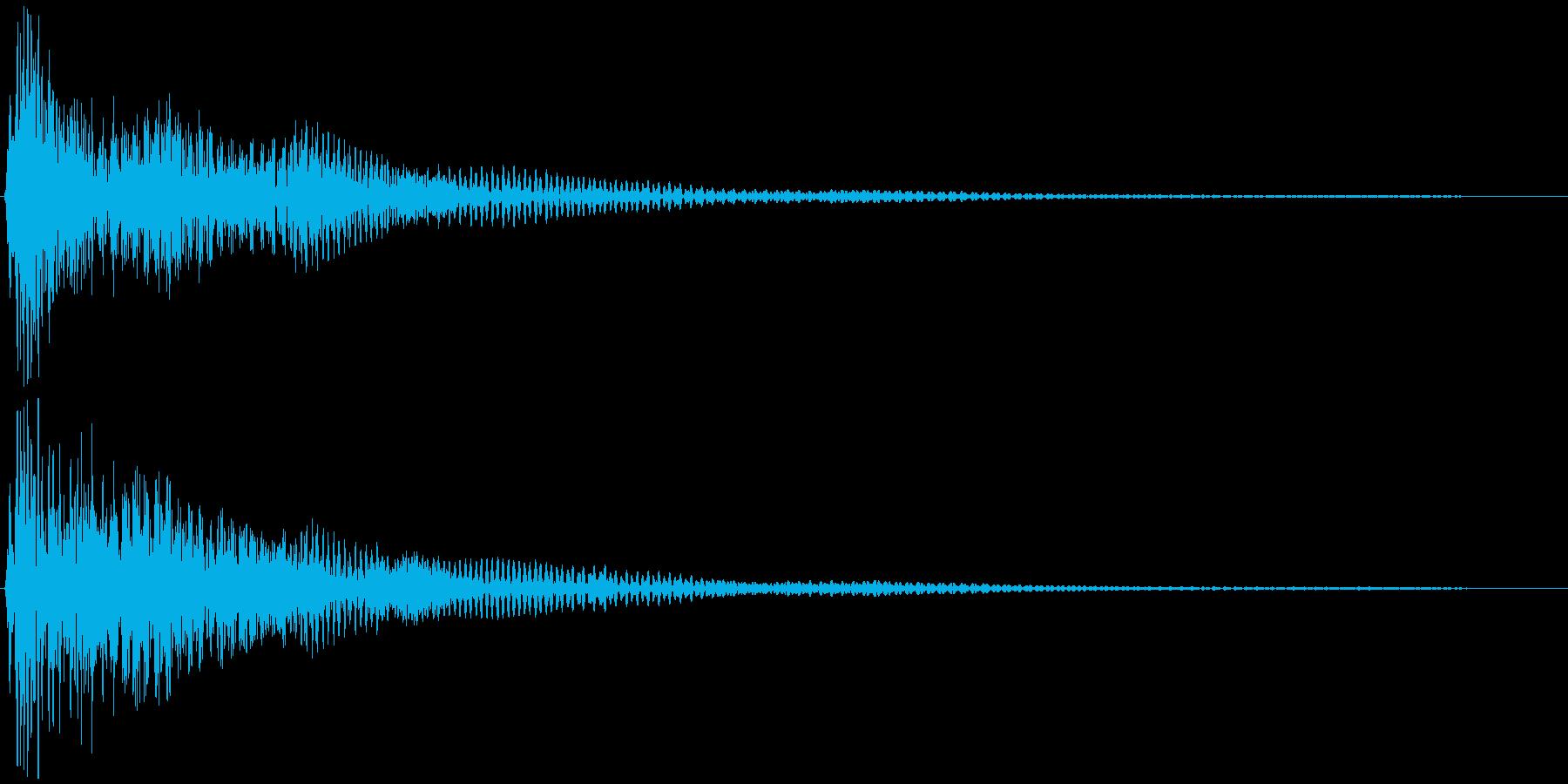 選択音、決定音など 宇宙風B ブオーンの再生済みの波形