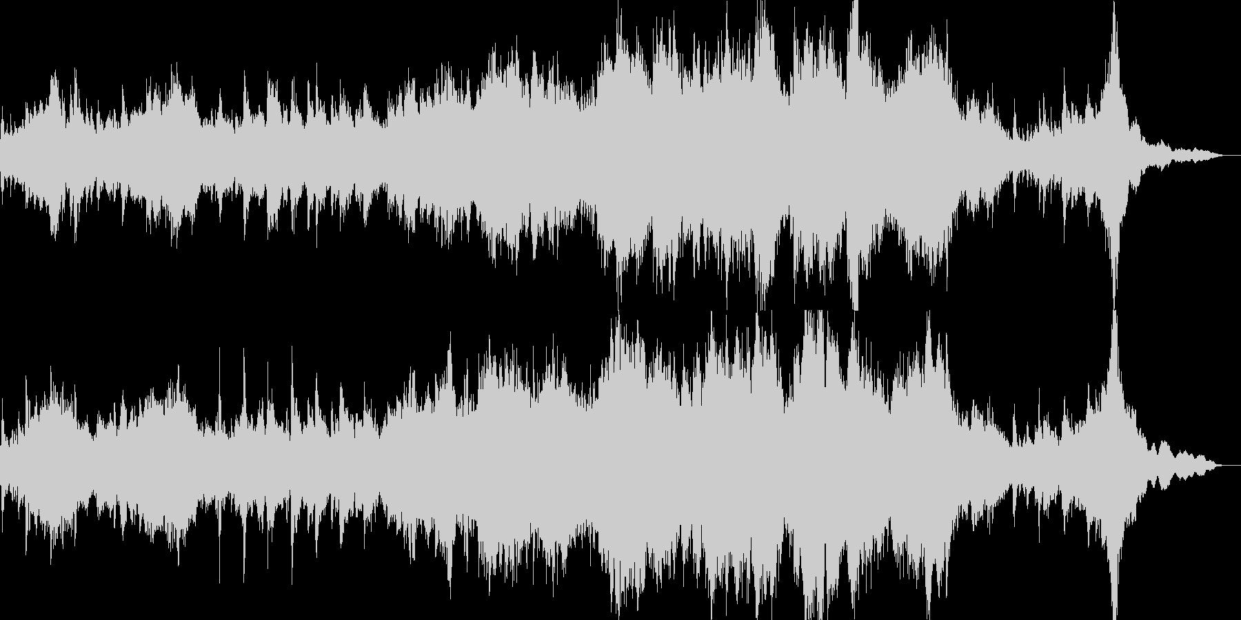和風なピアノとストリングスのBGMの未再生の波形