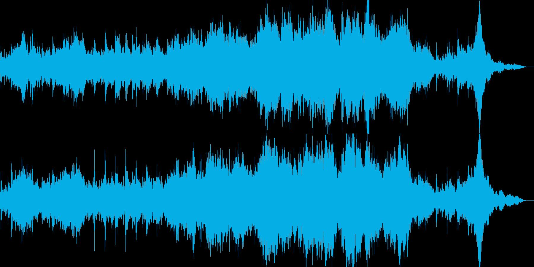 和風なピアノとストリングスのBGMの再生済みの波形