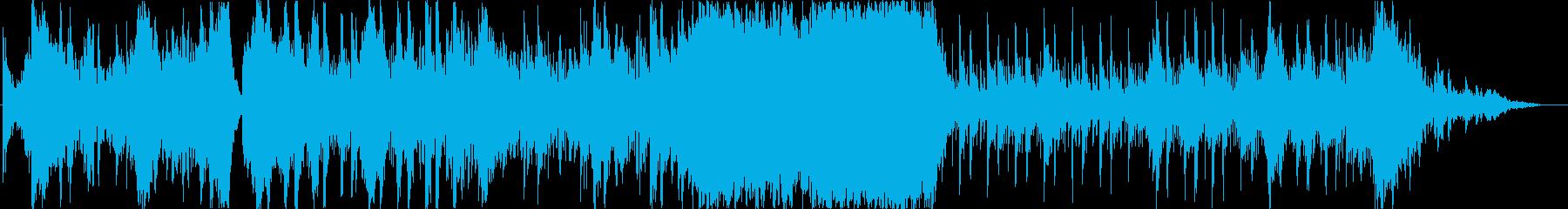 スリルや緊張感満載のゲーム戦闘用BGMの再生済みの波形