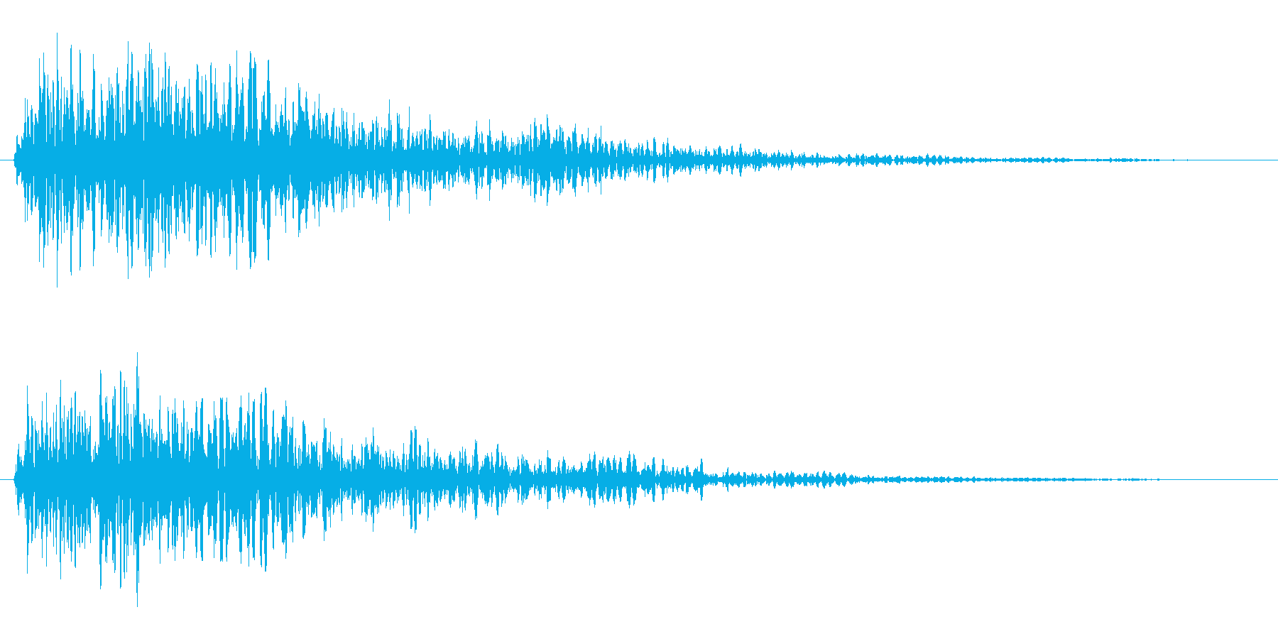 ズギャーン(危険を伝える警告音)の再生済みの波形
