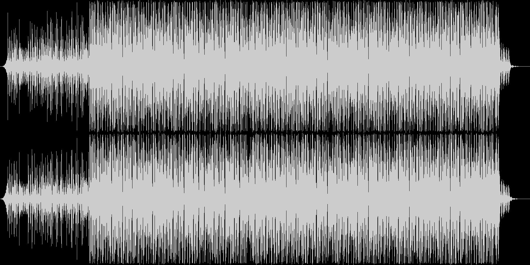 ノリの心地よいダンサブルなハウスの未再生の波形